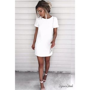 lulus shift and shout shift dress
